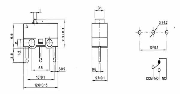 电水壶下压式开关结构